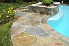 stained concrete pool deck chicago