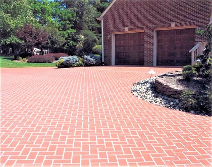 concrete driveway resurfaced chicago
