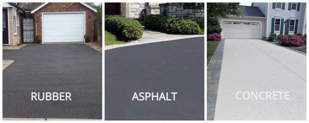 rubber asphalt concrete driveway