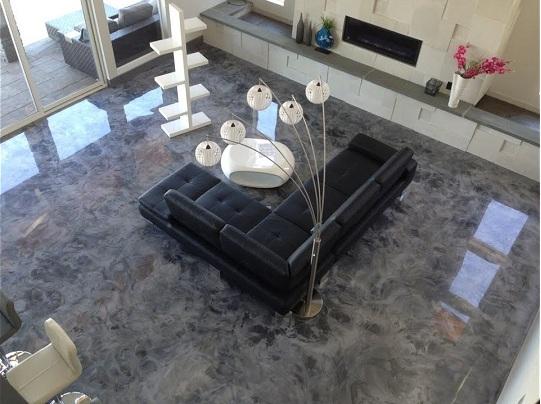 epoxy interior floors