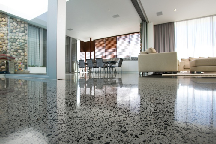 polished concrete interior floors