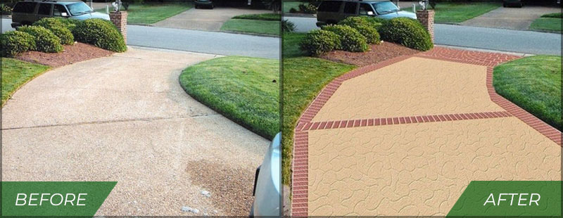 concrete resurfacing chicago before and after